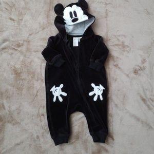 Velour Mickey Mouse Bodysuit